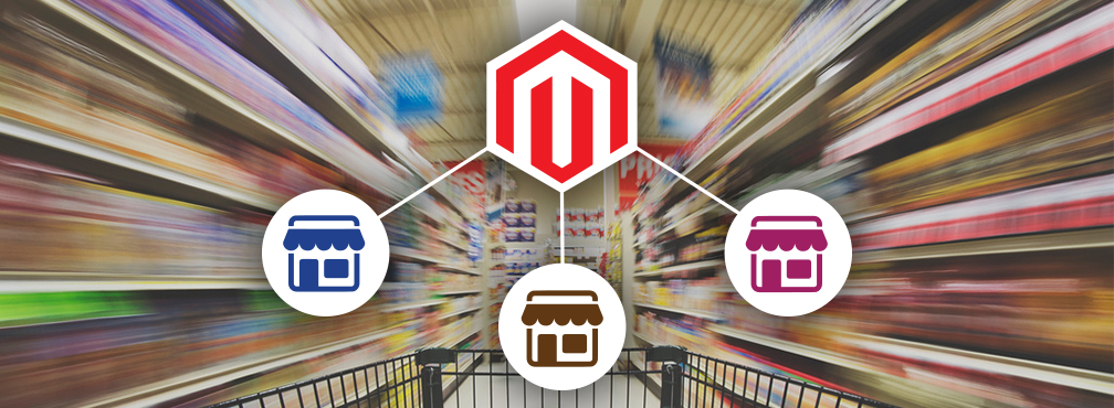 Magento multi store setup and management