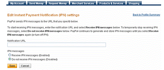 PayPal-configurations
