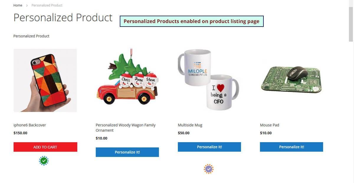 Personalized Products M2