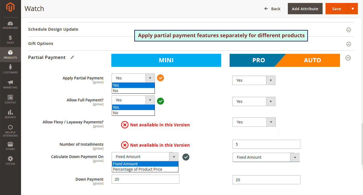 Partial Payment and Layaway M2