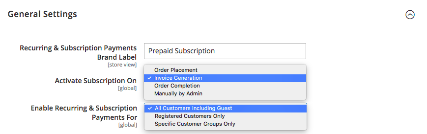 Prepaid Subscription Payments M2
